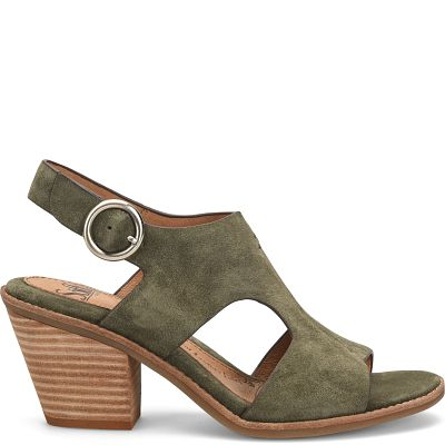 shown in Army Green Suede (Green)